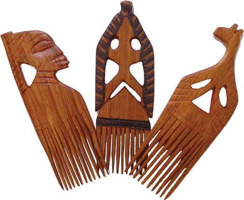 Ghanaian Handcarved Wood Comb
