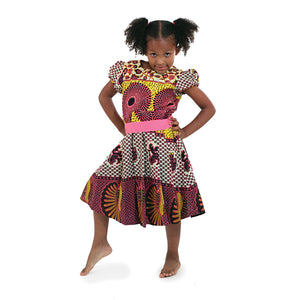 Girl's African Abstract Print Dress