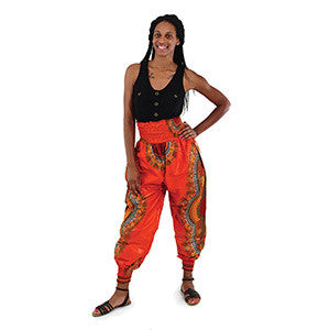 Ladies Traditional Print Harem Pants
