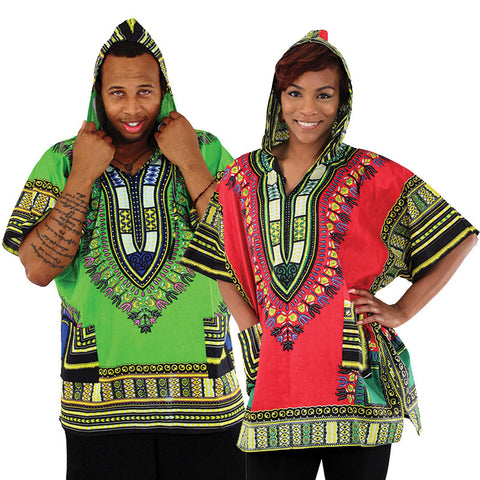 Unisex Hooded Dashiki