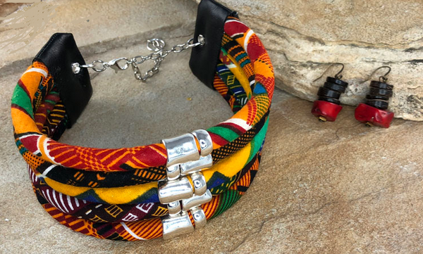 Kaja Kitenge Choker and Earring Set