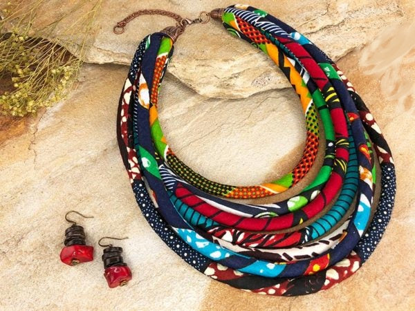 Kaja 3 Piece Kitenge Jewelry Set