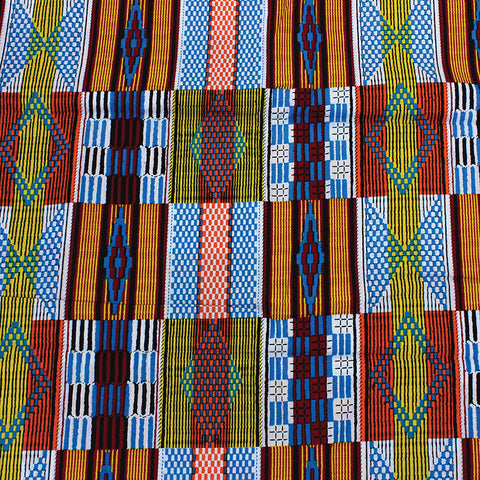 Assortment African Kente Print Fabric