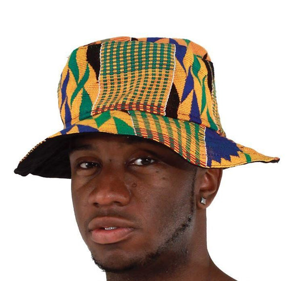 Unisex Traditional Kente Print Bucket Hat