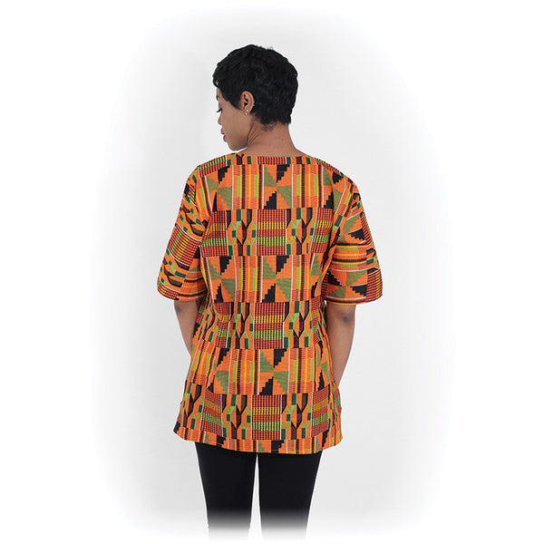 Ladies Kente Dashiki with Embroidery