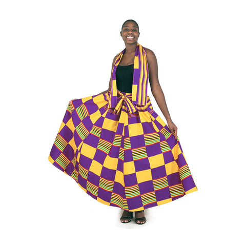 Kente Design Maxi Skirts