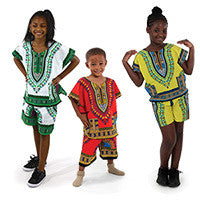 Children's Dashiki & Shorts Set