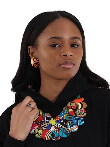 Hand-crafted Kitenge Necklace & Earring Set