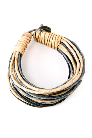 Twister Leather Strand Bracelet