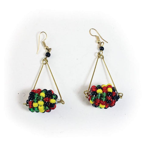 Hand-crafted Maasai Beaded Drop Earrings