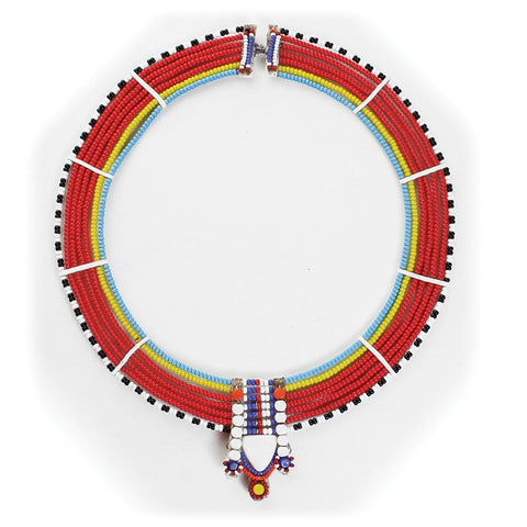 Maasai Beaded Statement Choker