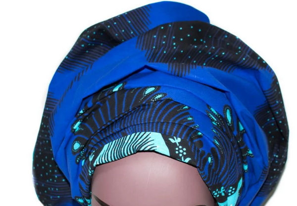 African Print Headwrap - Midnight Glow