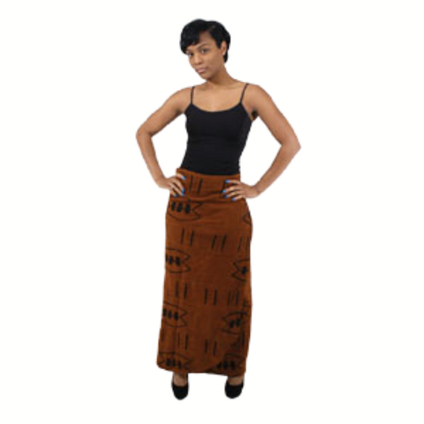 Mud Cloth Wrap Skirt