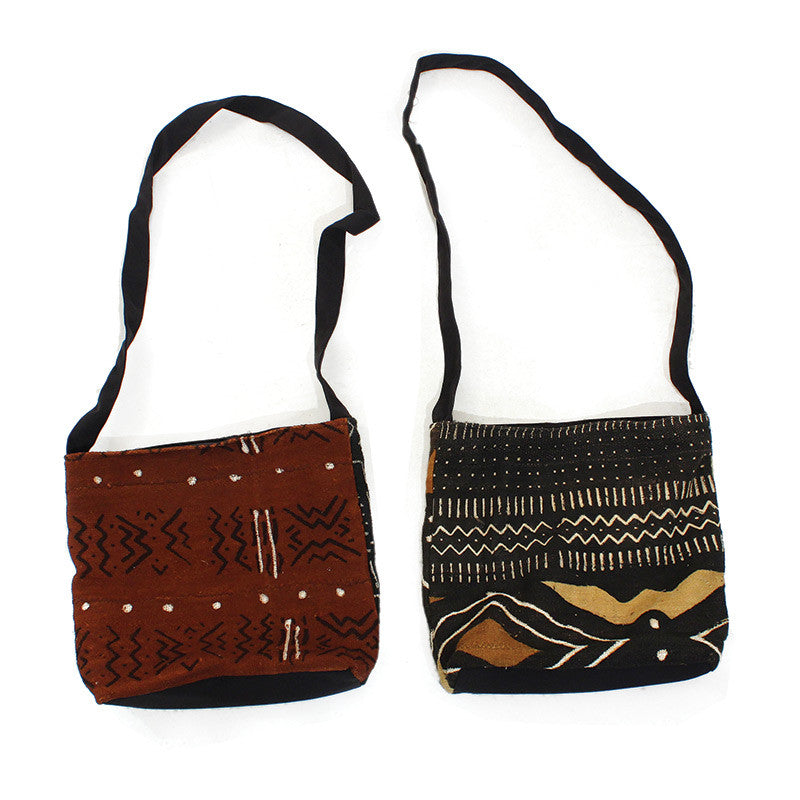 Hand Crafted Mudcloth Zipper Tote Bag