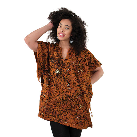 Ladies Metal Embellished Mudcloth Dashiki