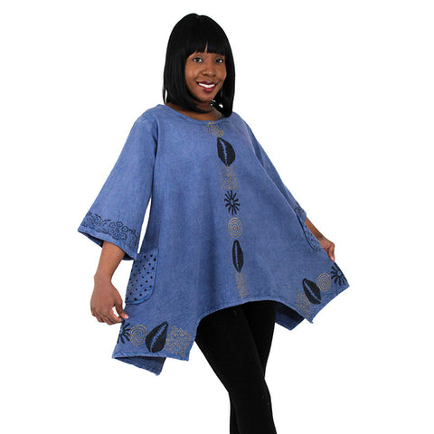 Ladies Heavy Cotton Cowry Shell Dashiki