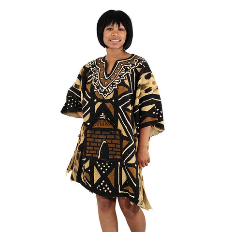 Luxury Hand-painted Mudcloth Dashiki