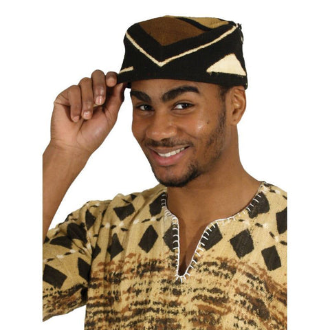 Men's Mudcloth Kufi Hat