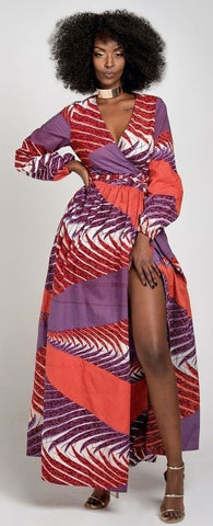 Palesa Luxury Wrap Maxi Dress
