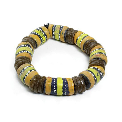 Oversized Glass Trade Bead Bracelet