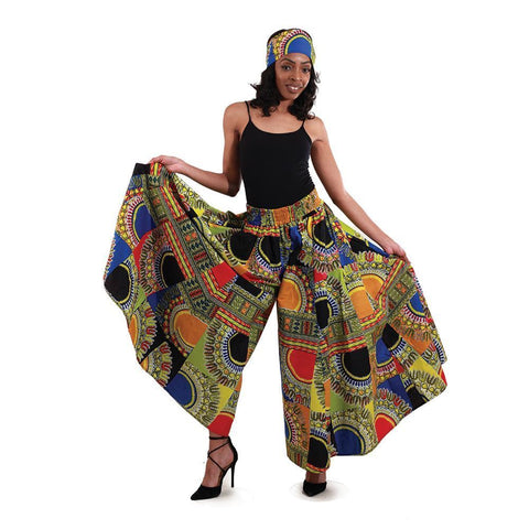 Traditional African Print Patchwork Palazzo