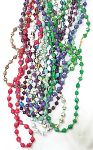 Handcrafted Paper Bead Necklace
