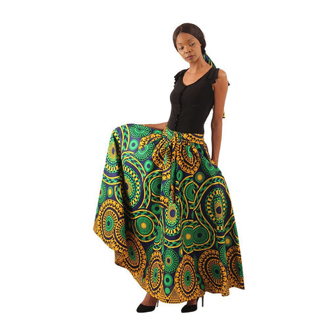 Pemba Luxury Maxi Skirt with Scarf