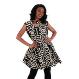 Ladies African Print Peplum Tunic