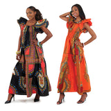 Ladies Traditional Print Princess Dress