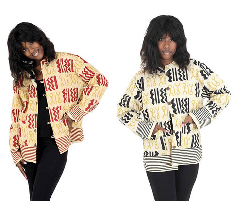 Ladies Reversible African Print Jacket