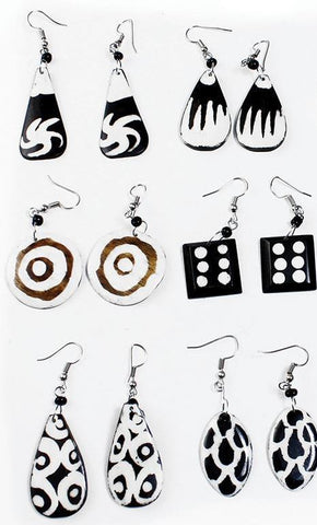 Set of 6 Handcrafted Earrings