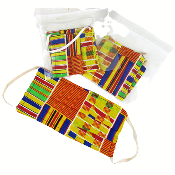 Set of 3 Kente Print Masks