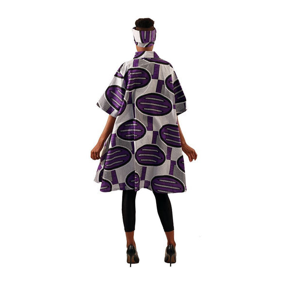 Ladies African Print A-Line Swing Shirt