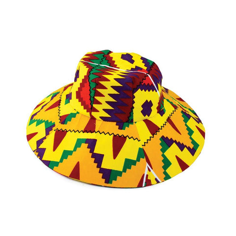 Ghanaian Yellow Kente Sun Hat