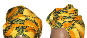 African Print Headwrap - Sunrise