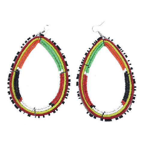 Maasai Oversized Teardrop Earrings