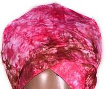 African Print Headwrap - Pink Tie Dyed