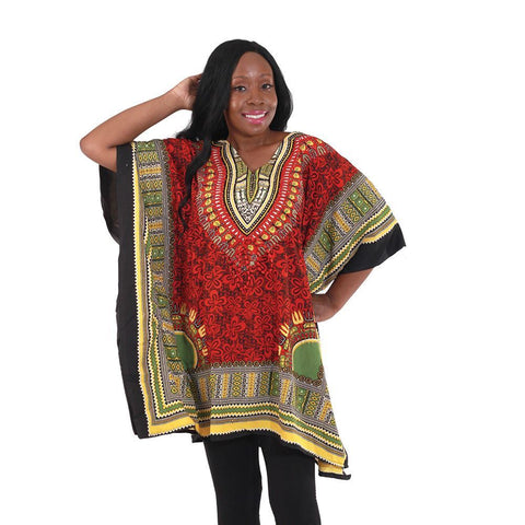Ladies Traditional Floral Dashiki