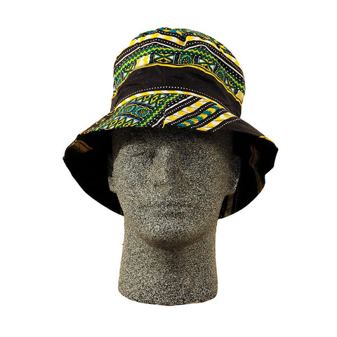 Unisex Cotton Traditional Print Bucket Hat