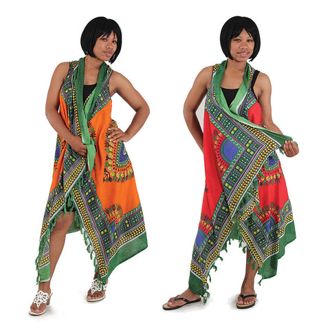 Ladies Traditional Print Sarong Vest