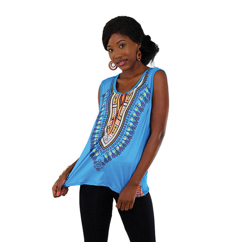 Ladies Traditional Dashiki Tank Top