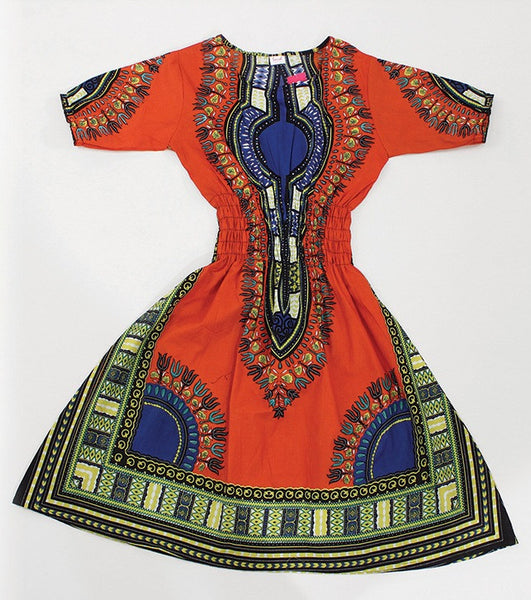 Traditional Print Dress