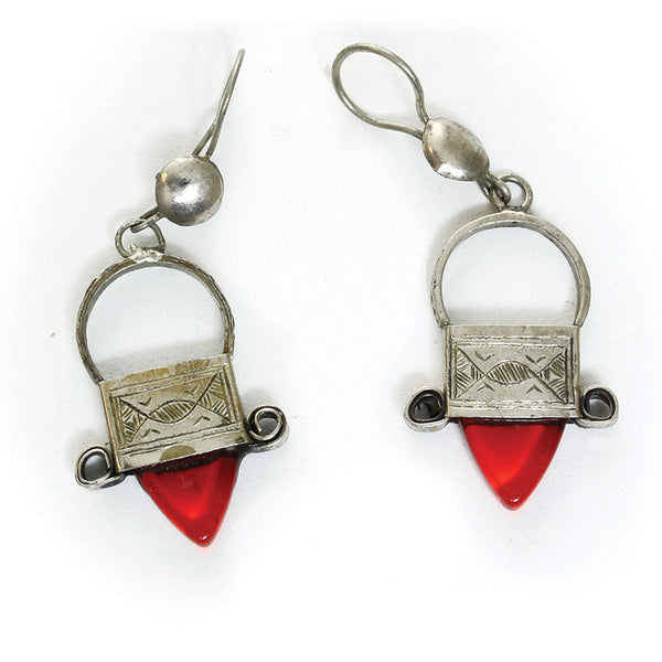 Handcrafted Tuareg Silver Earrings