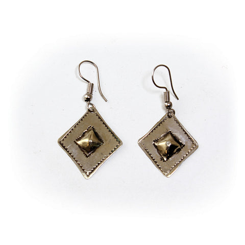 Set of 3 Handcrafted Tuareg Silver Earrings