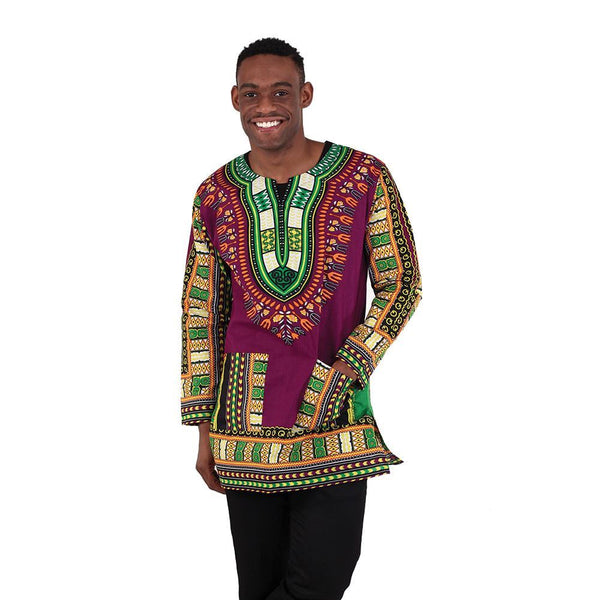 Unisex Traditional Long Sleeve Dashiki