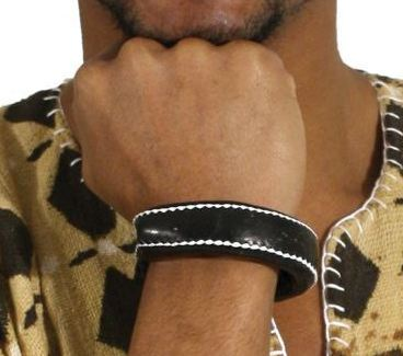 Nigerian Handcrafted Leather Bracelet