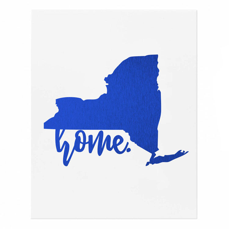 New York State Home Gold Foil Print