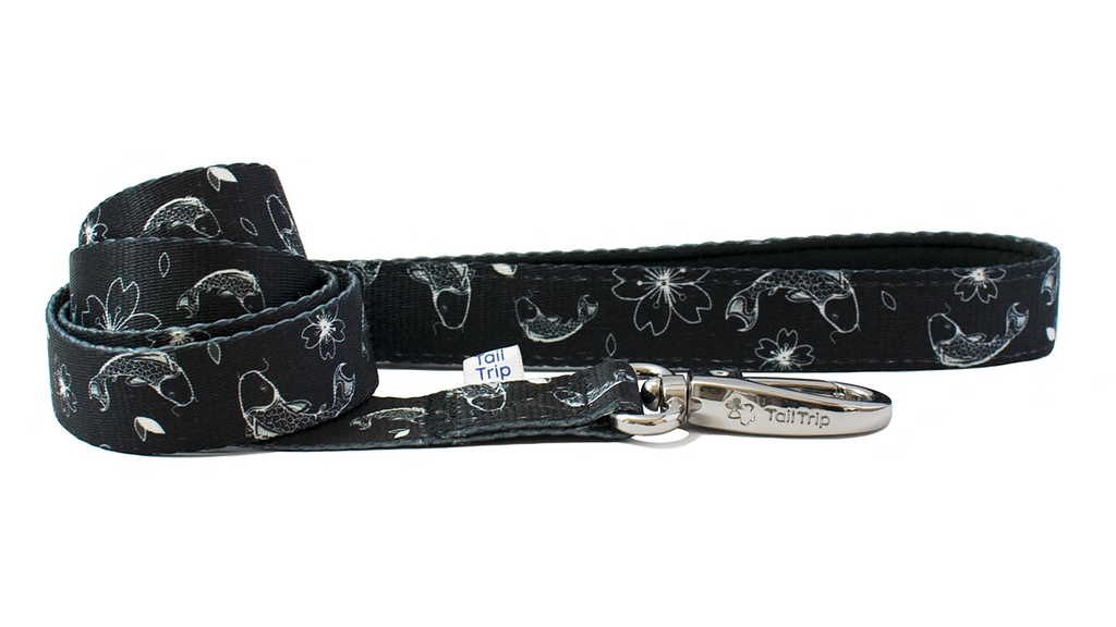 Tail Trip Japanese Koi Design Dog Leash
