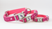 Tail Trip Dog Collar Pinkie Design all sizes