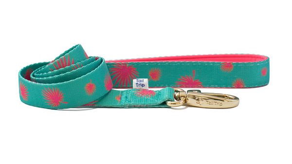 Tail Trip Tropical Design Dog Leash